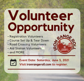 Volunteer to Iron Range Roll