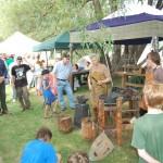 Ishpeming Art Faire and Renaissance Festival 2011 -Blacksmith Demonstration