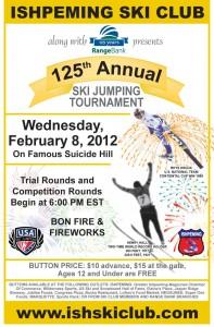 Ishpeming Michigan Suicide Ski Hill Jumping Tournament 2-8-2012