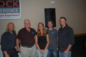 Mike Plourde, Heather, Tony Dutcher, and Pete Polini at Great Lakes Radio Giveaway