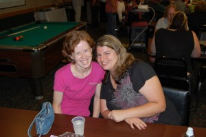 Two Happy Campers at Pool Table Giveaway by WKQS, WFXD, WRUP, WQXO, WPIQ