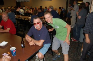 Contestant (Left) & Travis (Right) at Game Room Giveaway, July 12, 2012