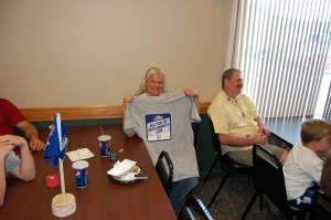 T-Shirt Door Prize Winner at Rec Depot Game room Giveaway by Great Lakes Radio, Inc.