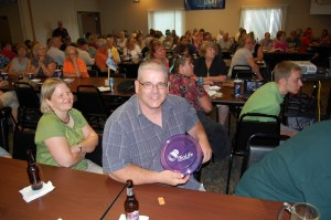 BioLife Frisbee Door Prize Winner at Great Lakes Radio & Rec Depot Game Room Giveaway in Ishpeming, MI