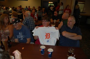Detroit Tigers Door Prize Winner at Great Lakes Radio & Rec Depot Game Room Giveaway in Ishpeming, MI