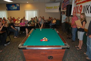 Elmer Aho - American Country Gold - Invited To Break A Rack of Pool Balls at Rec Depot Game Room Giveaway - Ishpeming