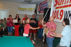 Sherry Warlin Sinks #6 Ball at the Rec Room Game Room Giveaway - Ishpeming - July 12th