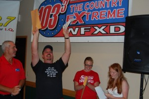 Dave Wiegand of Marquette - the Grand Prize Winner of Rec Depot Game Giveaway in Ishpeming, Michigan, Thursday, July 12, 2012