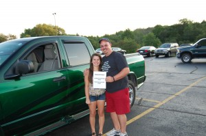 Dave Wiegand, Grand Prize Winner of the Rec Depot Game Room Giveaway, Poese with His Daughter