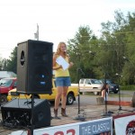 Master of Ceremonies - Heather of the Country Scoop on WFXD - Skandia Days Texaco Country Showdown West Branch Recreation Center July-21, 2012