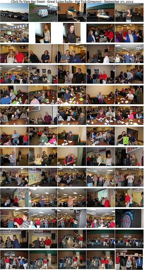 2012 - Rec Depot & Great Lakes Radio, Inc. Hot Tub Giveaway Photo Gallery