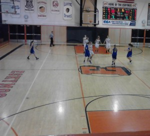The Ishpeming Hematite Girls in action in the 4th Quarter.