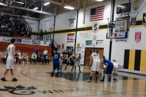 The Ishpeming Hematites and Gwinn Modeltowners tonight during a free throw