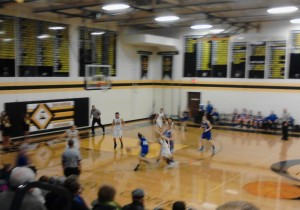 Ishpeming Hematite Girls in action tonight against the Iron Mountain Mountaineers