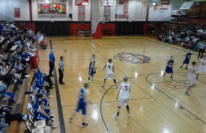 The Ishpeming Hematite Boys dropped the game tonight against the Marquette Redmen 56-43