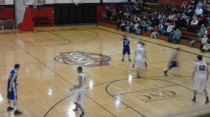 The Ishpeming Hematites in action against the Marquette Redmen tonight in Marquette