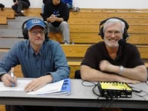 Bob Nadeau (left) and Mike Plourde (right) the voices of the Ishpeming Hematites on 98.3 WRUP - Real Classic Rock