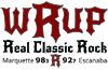 98.3 - 92.7 WRUP - Upper Peninsula Real Classic Rock Logo 100x65 Pixels