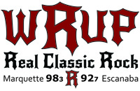 98.3 WRUP - The UP's only REAL Classic Rock Station Logo 200x130 Pixels