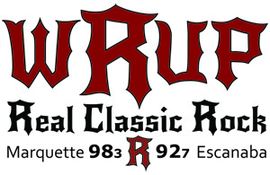 98.3 WRUP - The UP's only REAL Classic Rock Station Logo 300x195 Pixels