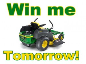 John Deere Mower Giveaway Party on April 3rd