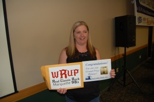 Winner Shelly Russell walked away with a Finnleo Sauna from Superior Stoves and Fireplaces