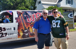 Great Lakes Radio Mike and Carl at the 2014 Ishpeming 4th of July Parade