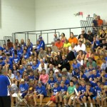 The crowd of Ishpeming Hematite supporters packed the high school gym