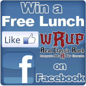 Like WRUP on Facebook.com for a chance to win a free Lunch