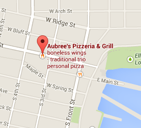 Locate Aubrees Pizza with Google Maps