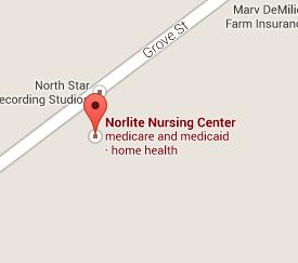 Find Norlite Nursing Center with Google Maps