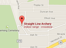 Find Straight Line Archery on Google Maps