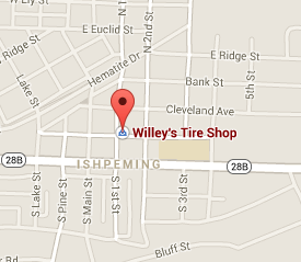 Find Willey's Tire Shop with Google Maps