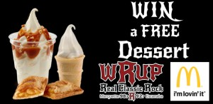 Win a free dessert with McDonald's and WRUP