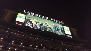 The scoreboard at Lambeau was in Green Bay's favor all night long!