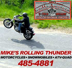 Mike's Rolling Thunder Motorcycle Repair at 100 Steel Street in Ishpeming