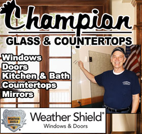 Champion Glass - for a free quote call 906-225-0282