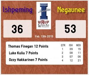 Ishpeming loses to Negaunee 36-53