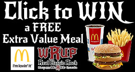 Enter to WIN a FREE Extra Value Meal from McDonald's and WRUP