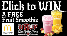 Enter to WIN a FREE Fruit Smoothie from McDonald's and WRUP