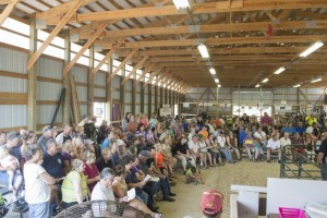 Full house at the Marquette County Fair for the Livestock Auction! 2015