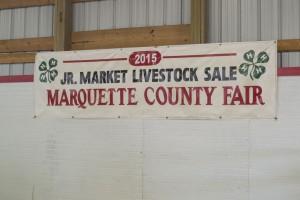 4-H Jr Market Livestock Sale at the Marquette County Fair