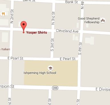 Yooper Shirts -308 Cleveland Ave Suit 104 in Downtown Ishpeming
