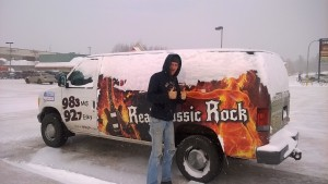 This awesome listener cleared the snow off the WRUP van for us!