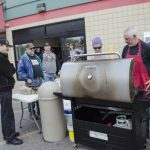 People were lining up for burgers today at Super One Foods!