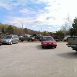 The parking lots are sure proof that we were busy!