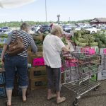 Everyone was enjoying the great deals on produce!