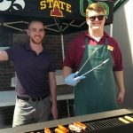 Serving hotdogs at Econo Foods!