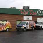 Station Vans in front of Read Rock Lanes