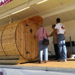 This 6 by 6 Barrel Sauna is full Western Red Cedar and on our shopping show right now!